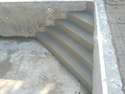 Parfait Adjonction Escalier Du0027angle Sur Piscine Existante Belle Conception