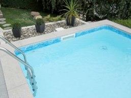 cheap liner blanc avec frise with frise piscine. Black Bedroom Furniture Sets. Home Design Ideas